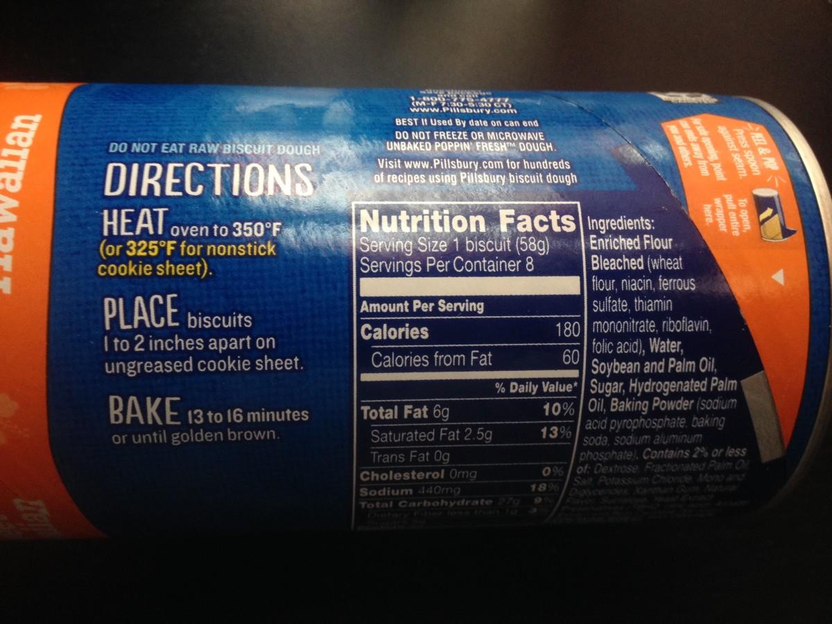 Pillsbury Grands Sweet Hawaiian Biscuits label information