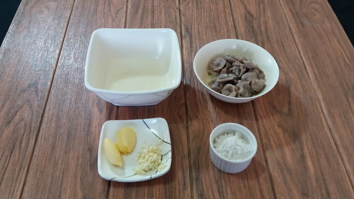ingredients for chicken gizzard recipe