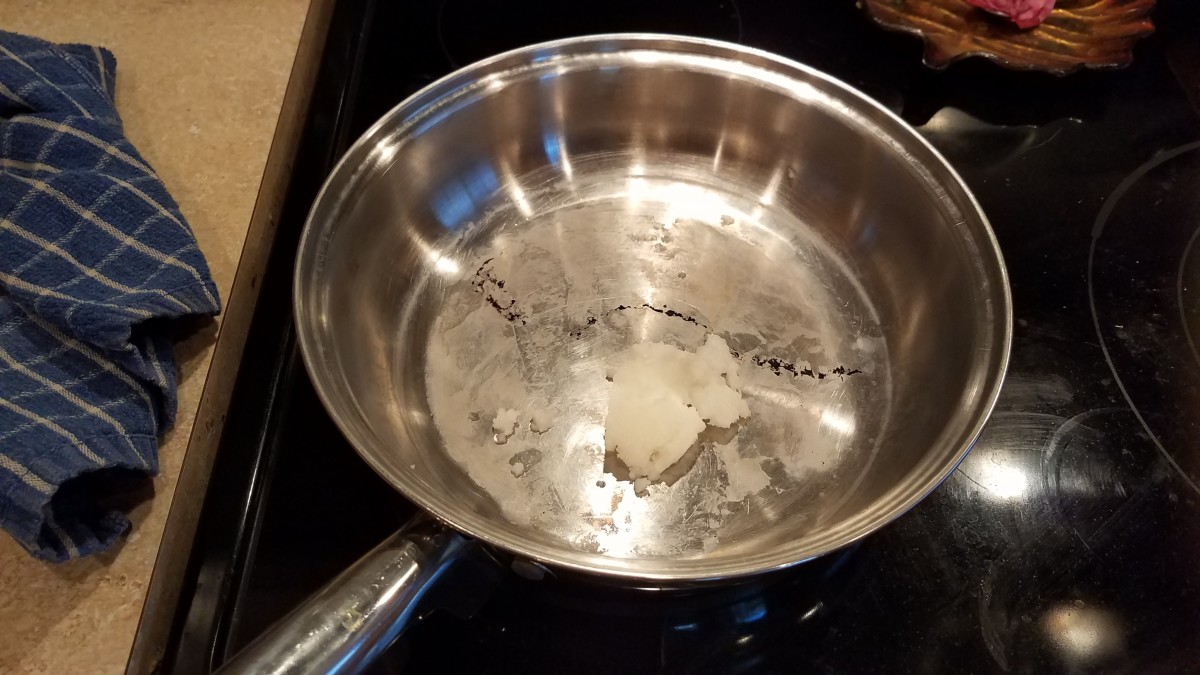 In the meantime, in a saute pan on the stove, I melted more coconut oil.