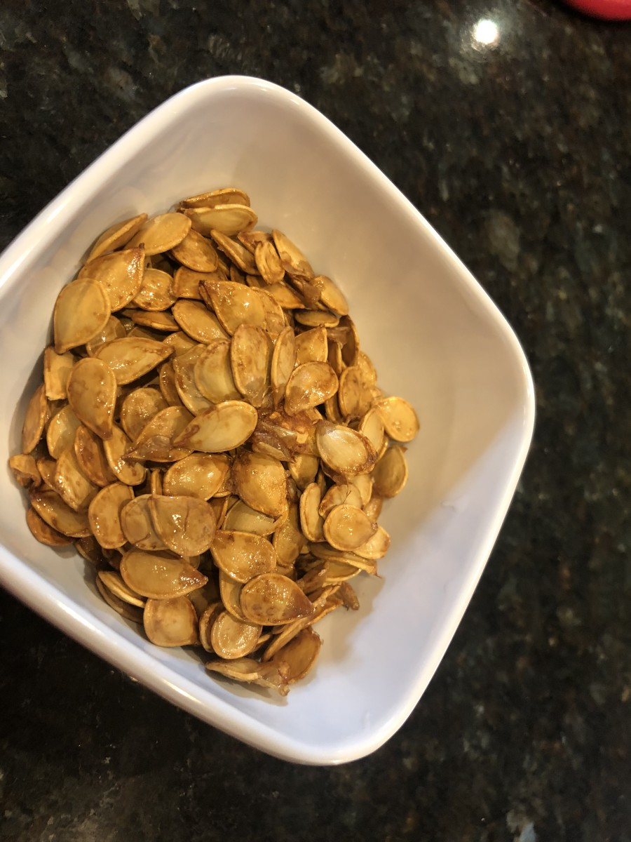 Save your acorn squash seeds for roasting. They're a healthy and delicious fall snack.