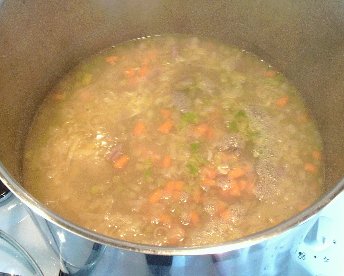 Hare soup is ready to serve