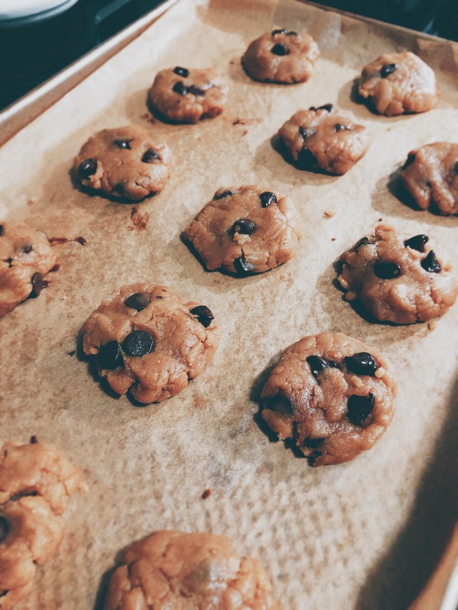 Drop the cookies onto a pan.