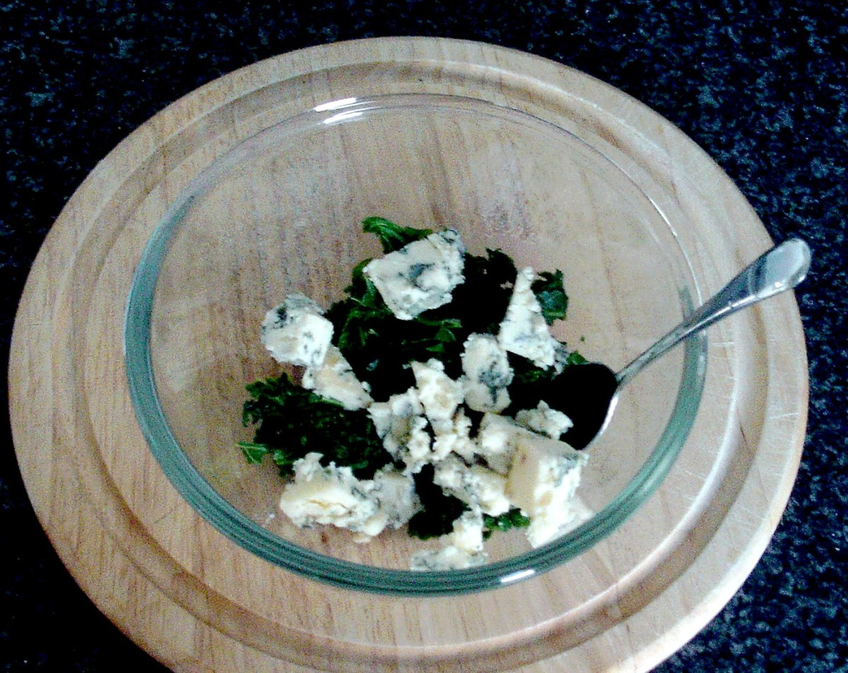Kale is combined with Stilton cheese