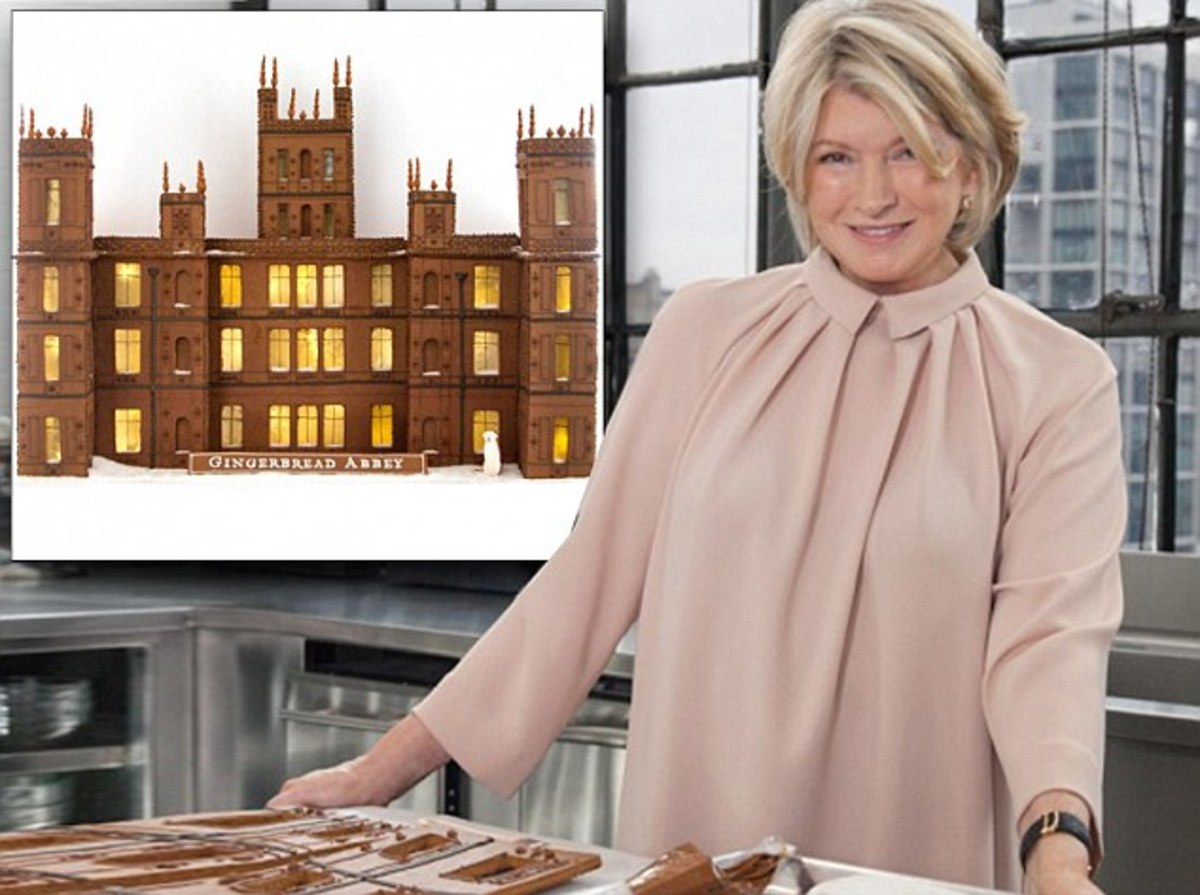 Martha with her Downton Abbey gingerbread masterpiece