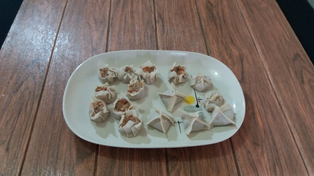 You can shape the dumplings any way you want.