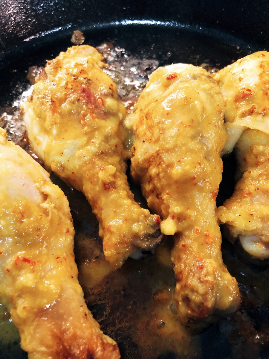 Grill the chicken on a pan.