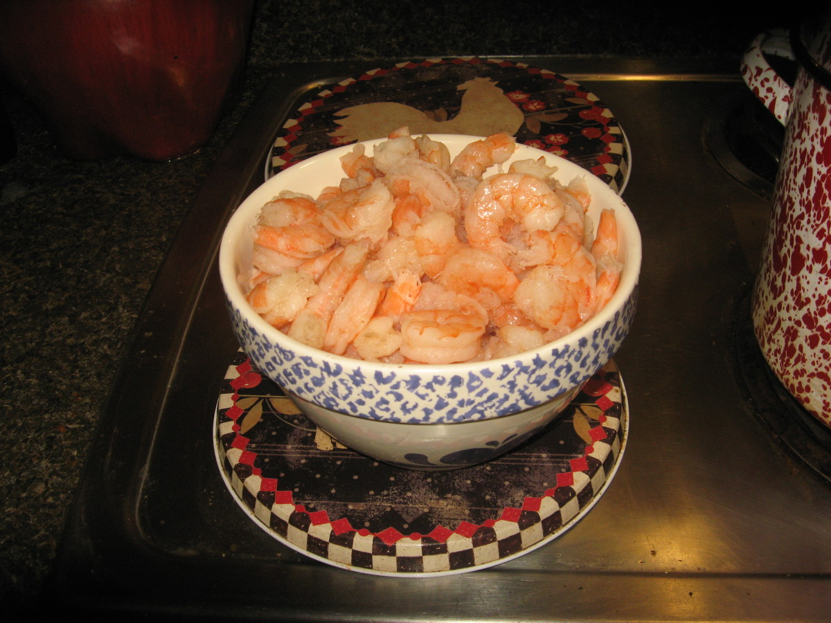 Shrimp creole is a great way to use leftover shrimp.