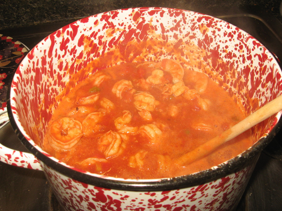 I like lots of shrimp in my shrimp creole.