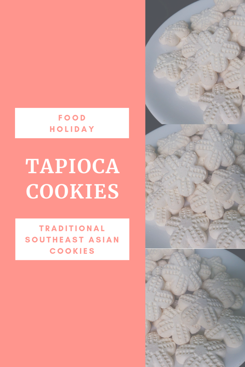 Tapioca cookies are made from tapioca flour, or sago flour.
