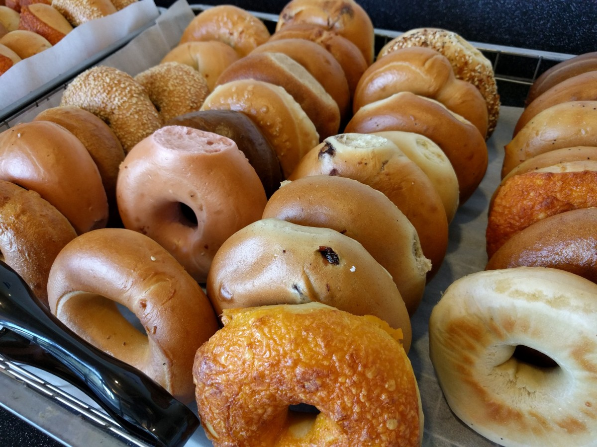 So many varieties of bagels . . .