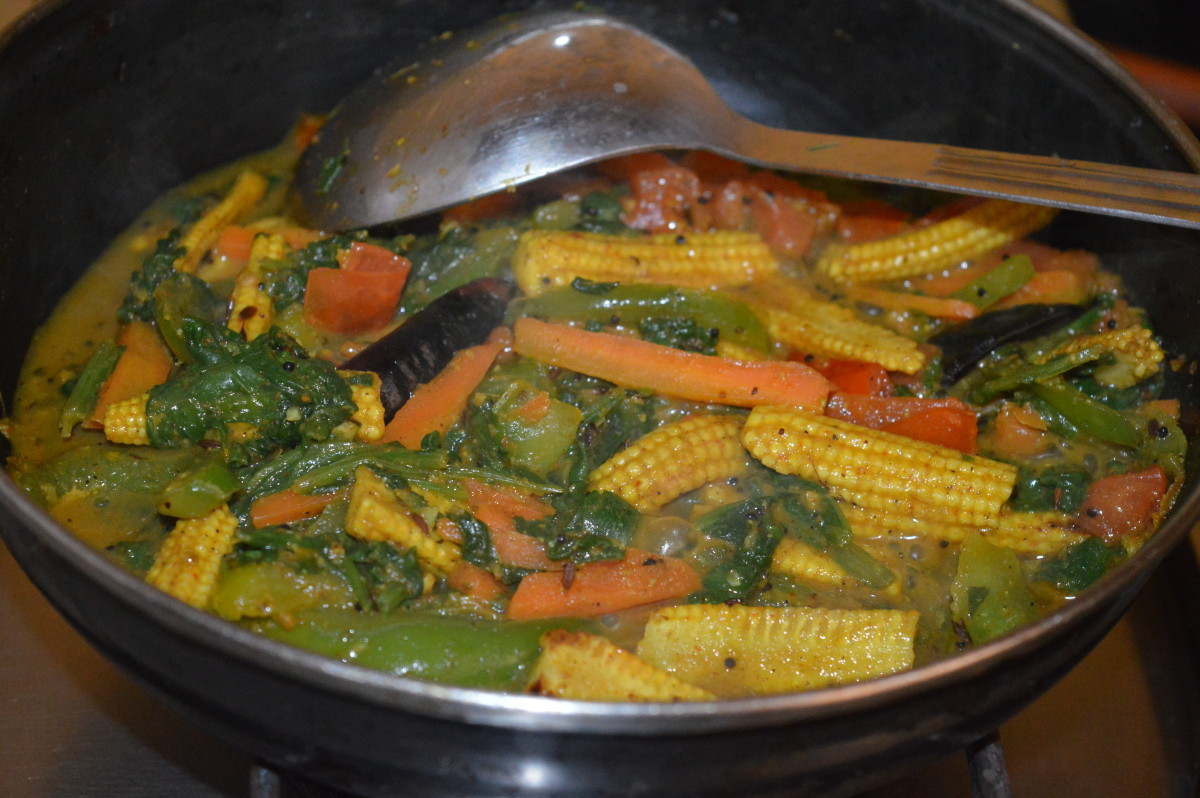 Turn off the heat once all the veggies cook well and blend with the spices.