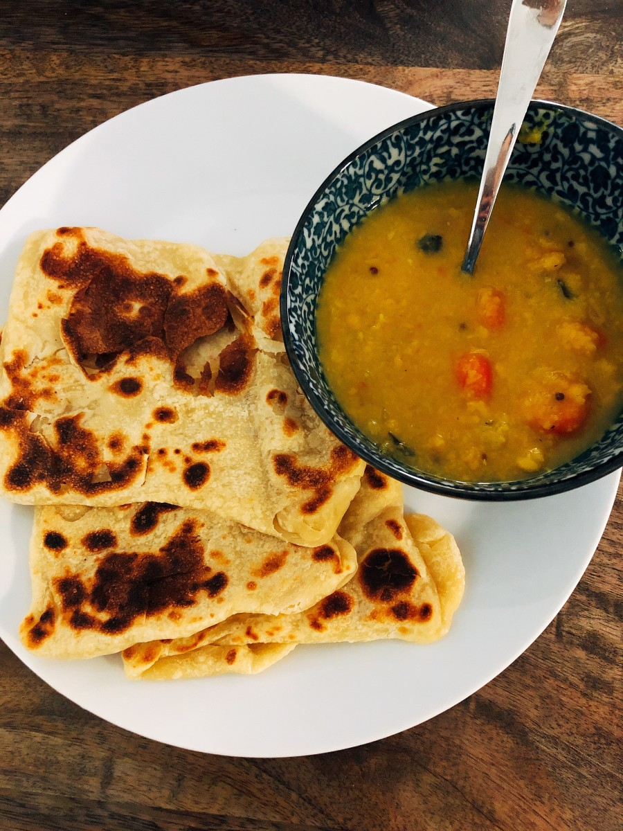 I prefer roti canai with dhal curry. Yummy!