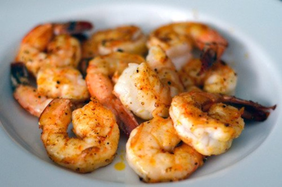 Shrimp with Garlic, Butter, and Sumac