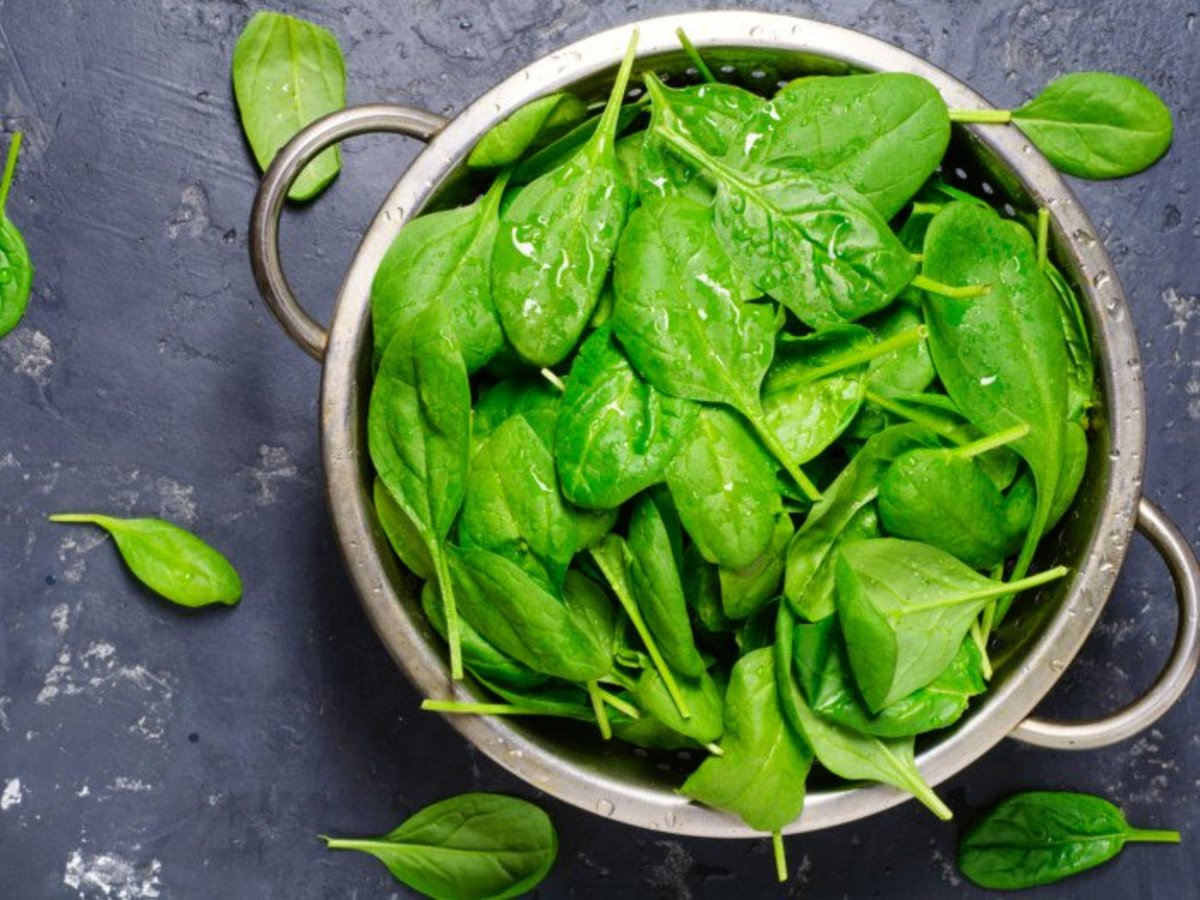 Six ounces of spinach in every batch.