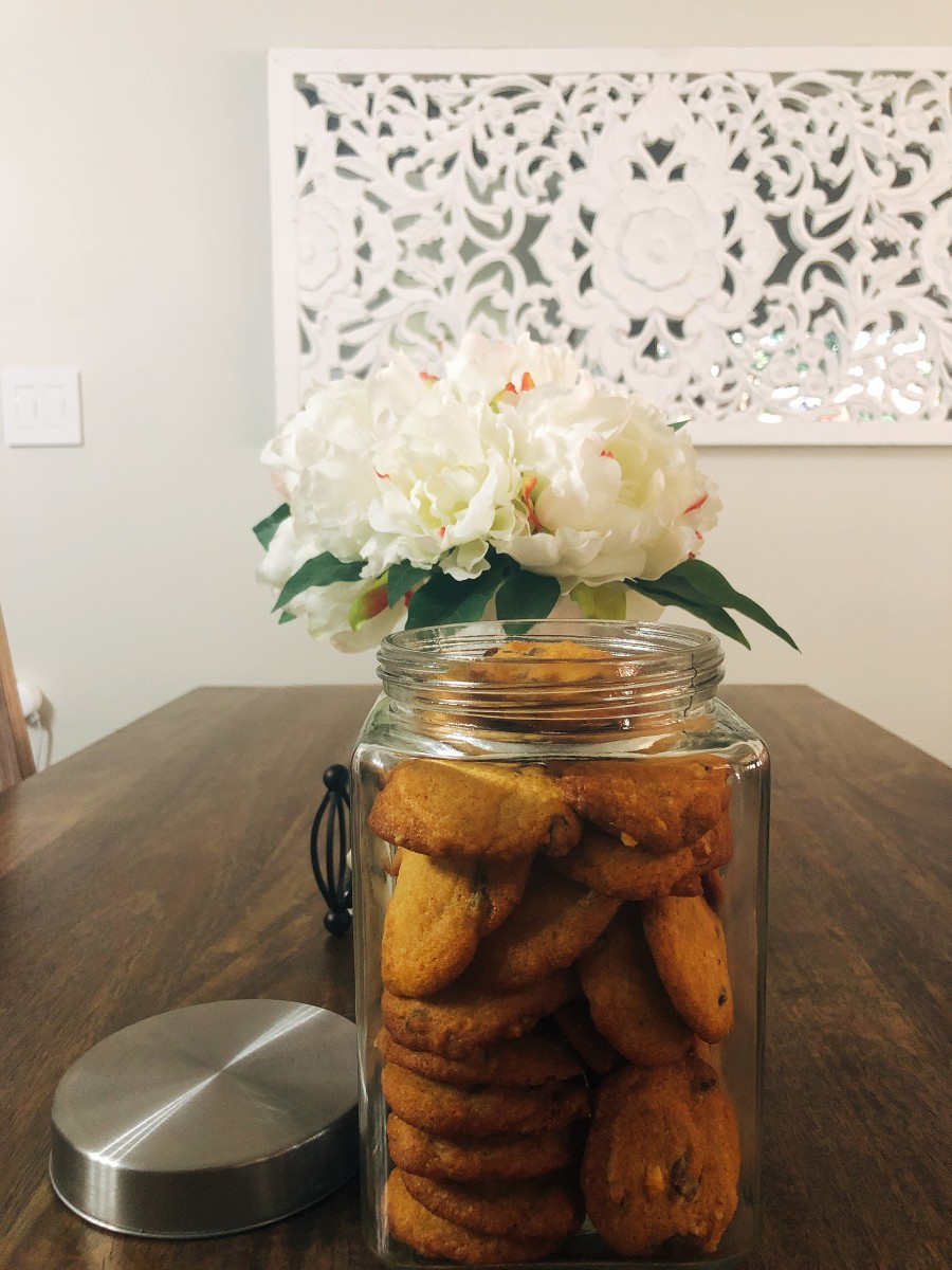 Transfer the cookies into a jar or an airtight container to preserve the crispiness.