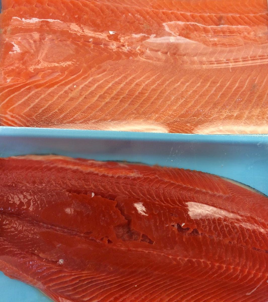 Comparison of Chum and Copper River salmon