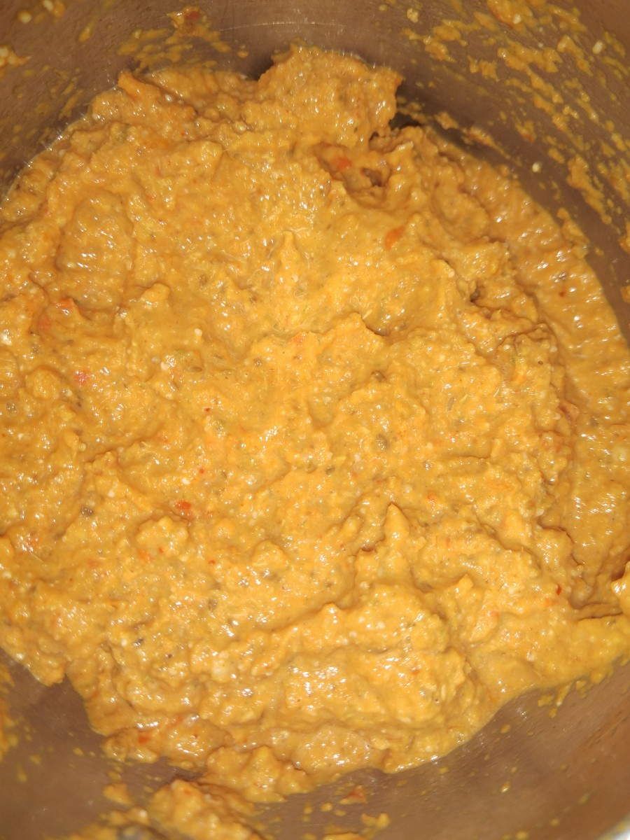 Make a fine paste adding a small amount of water. Set aside.