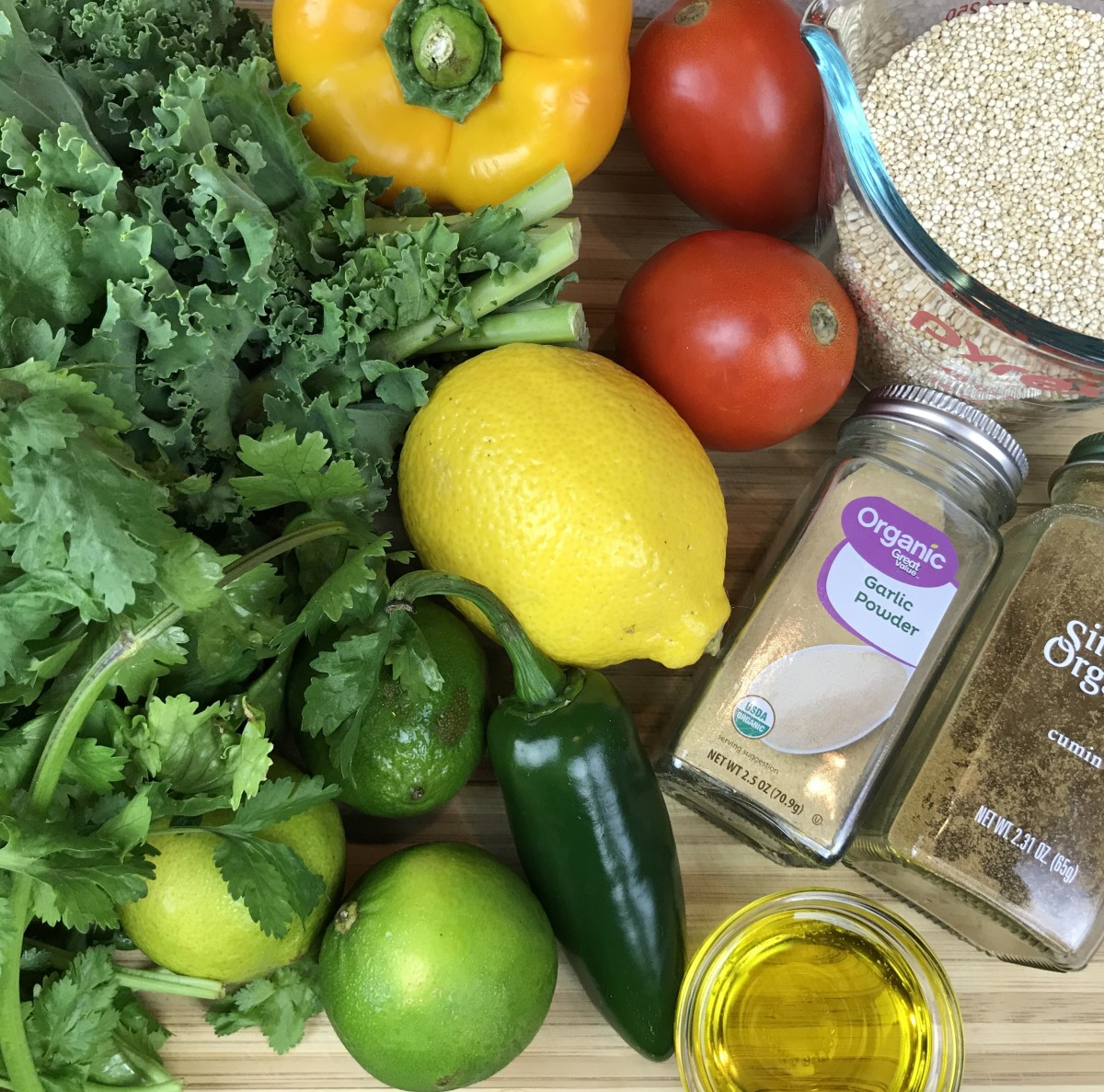 chilled-quinoa-and-kale-salad-with-tomatoes-peppers-cilantro-and-a-tahini-lime-dressing