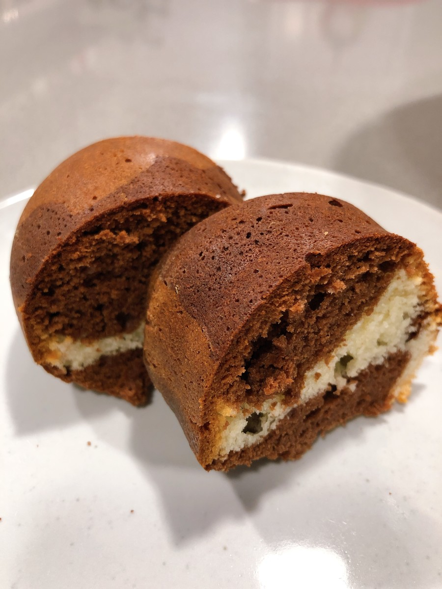 Two slices of marble cake for me!