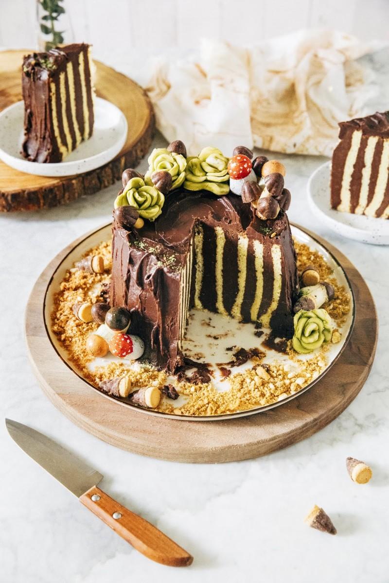 Chocolate Chestnut Yule Log