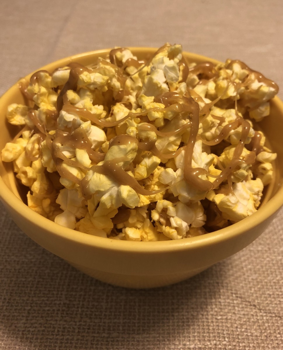 Drizzle over the popcorn and enjoy!