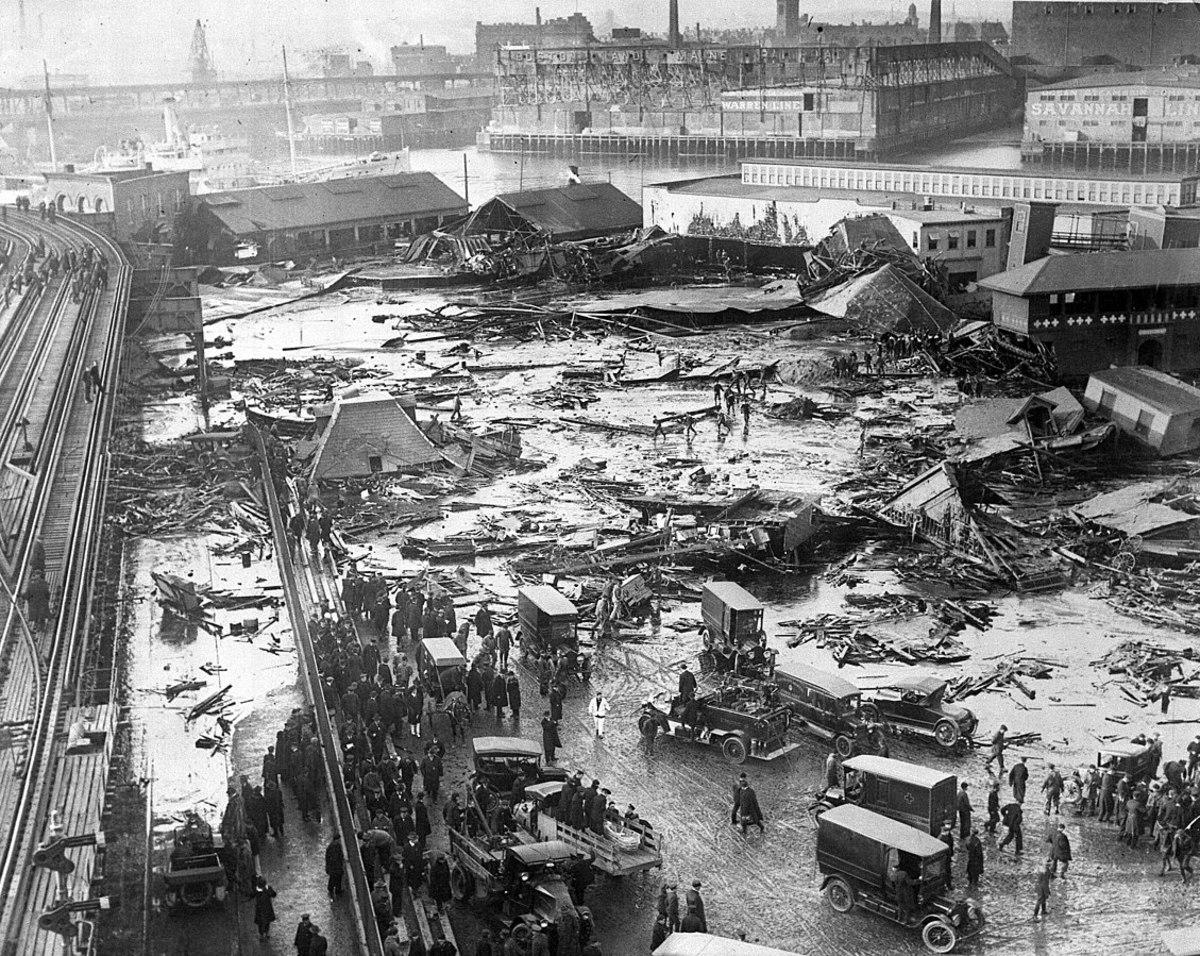 The devastation after the flood.