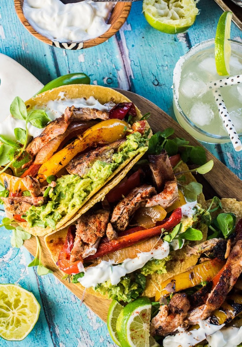 Grilled Mezcal Chicken Fajitas