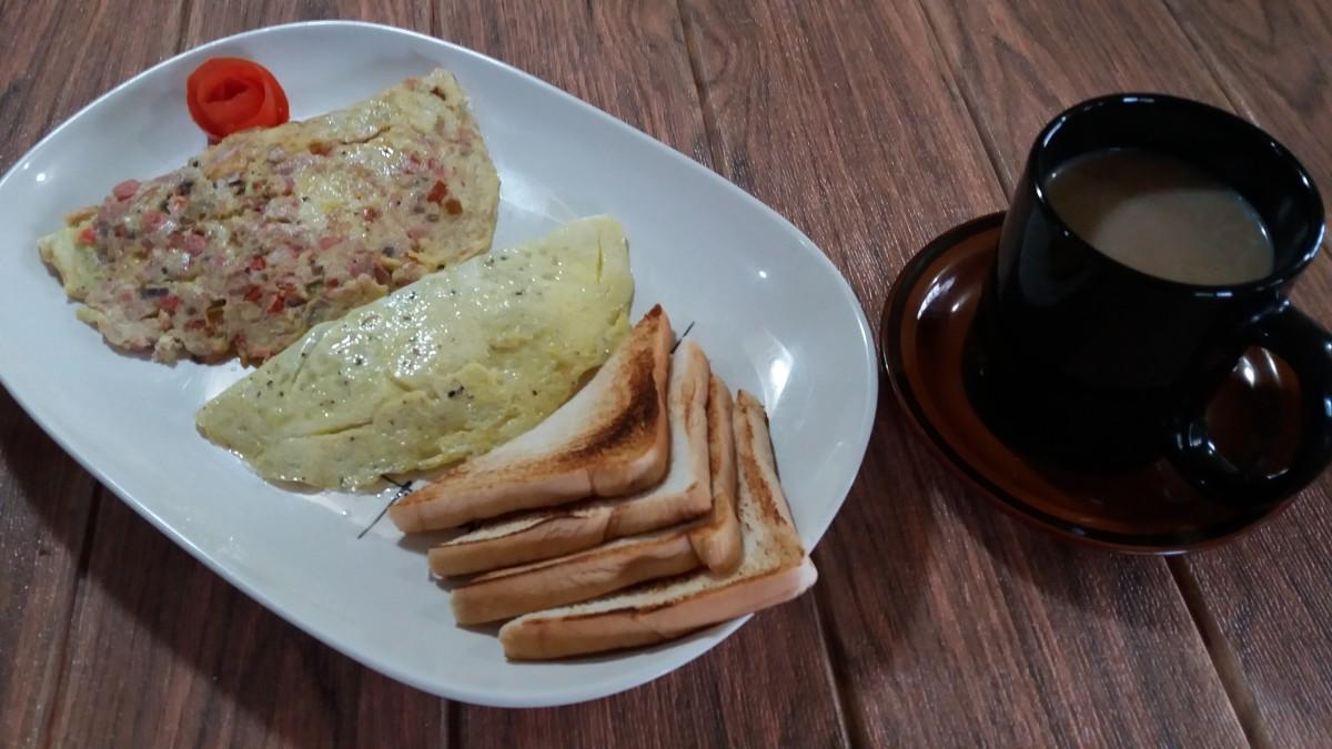 Tuna omelette ala 7-Eleven busog meal