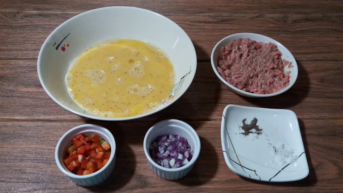 Tuna omelette ingredients