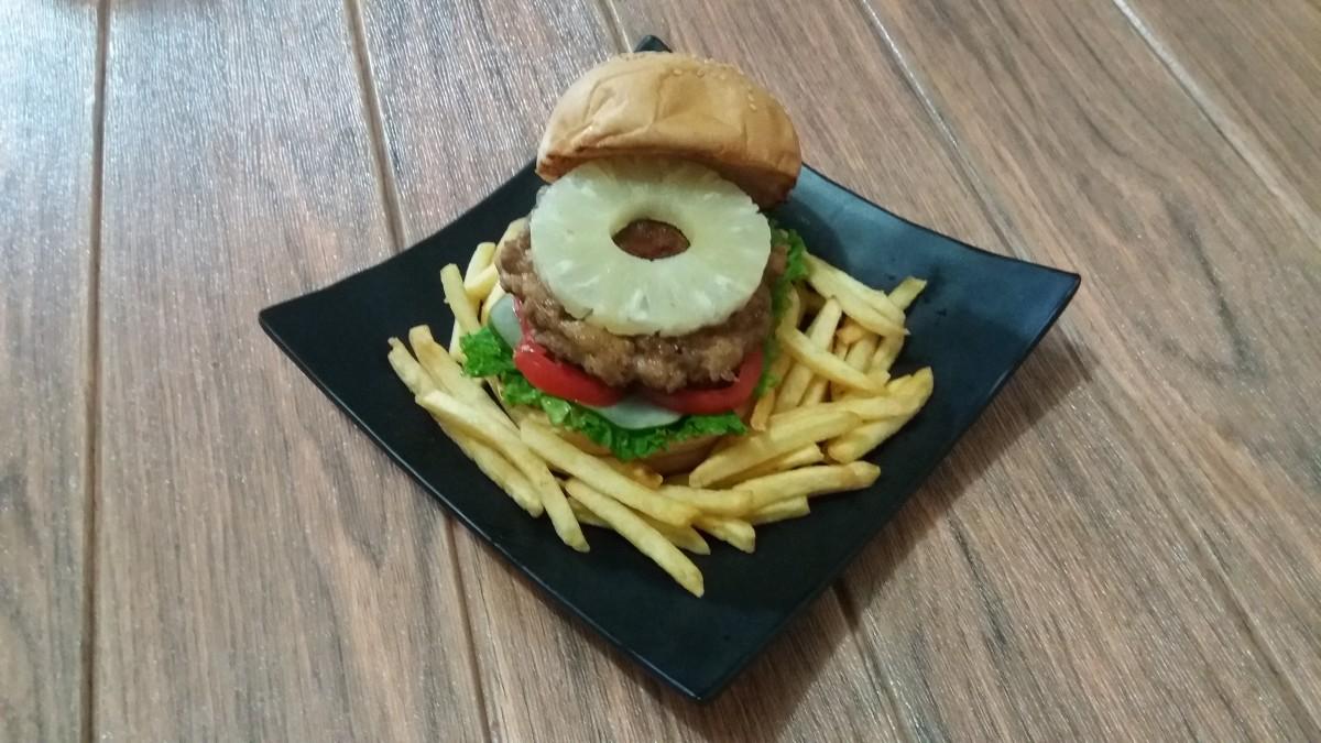 A Hawaiian burger, also known as an aloha burger
