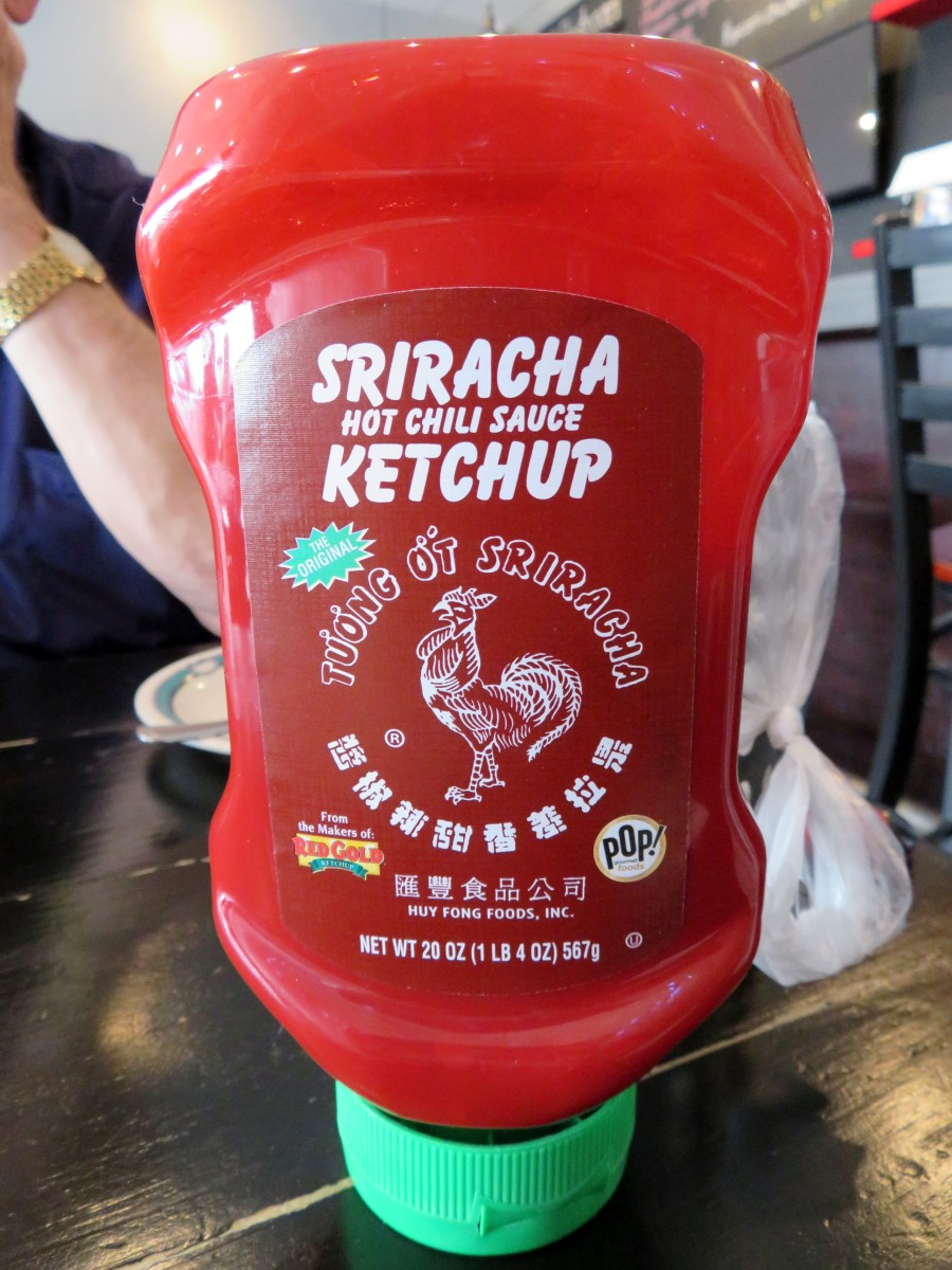 Siracha ketchup on every table