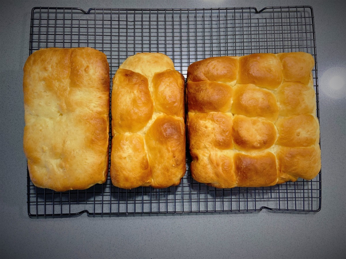Let the buns and loaves cool completely on a wire rack.