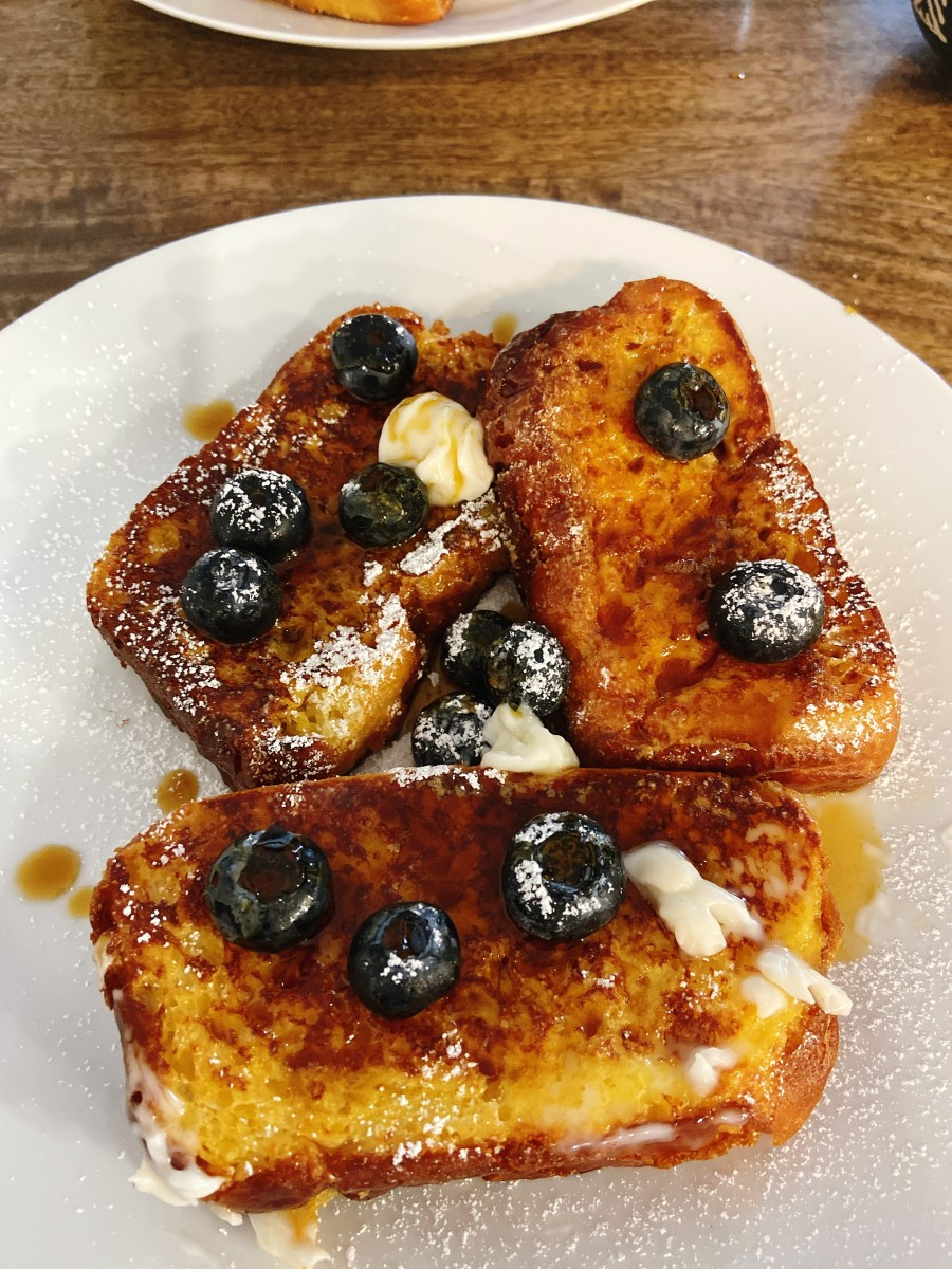 The next day, I used the brioche loaf to make French toast. Delicious!