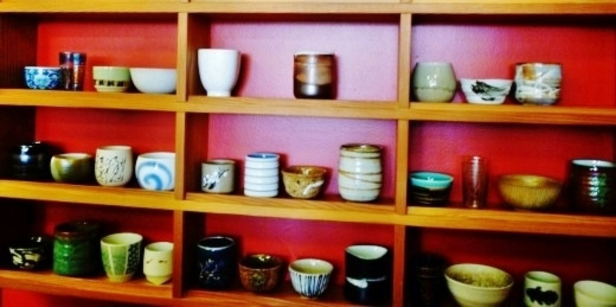 A partial selection of teacups