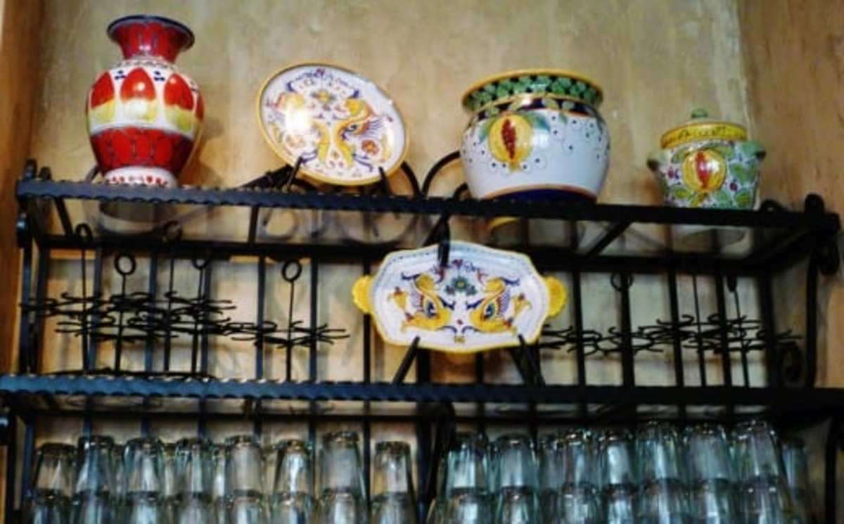 Pottery used as decor