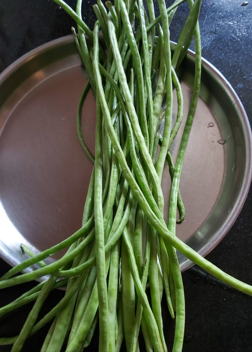 Wash long beans properly.