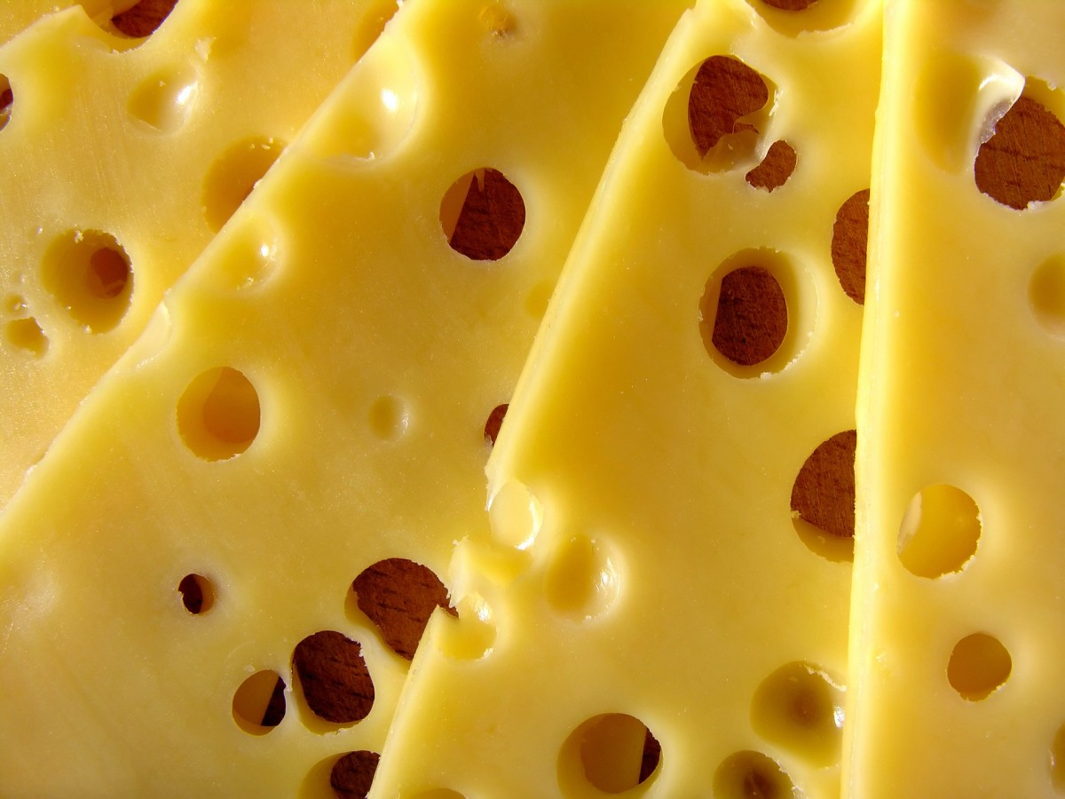 Swiss cheese for your Cubano sandwich