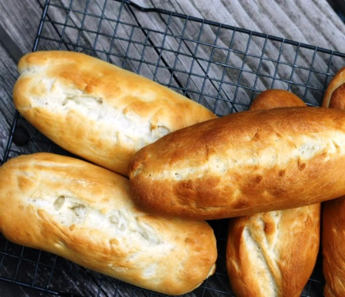Homemade pan Cubano (Cuban bread)