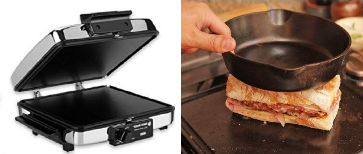Use a plancha (on the left), or use a cast-iron pan and your grill (like Kenji, on the right)