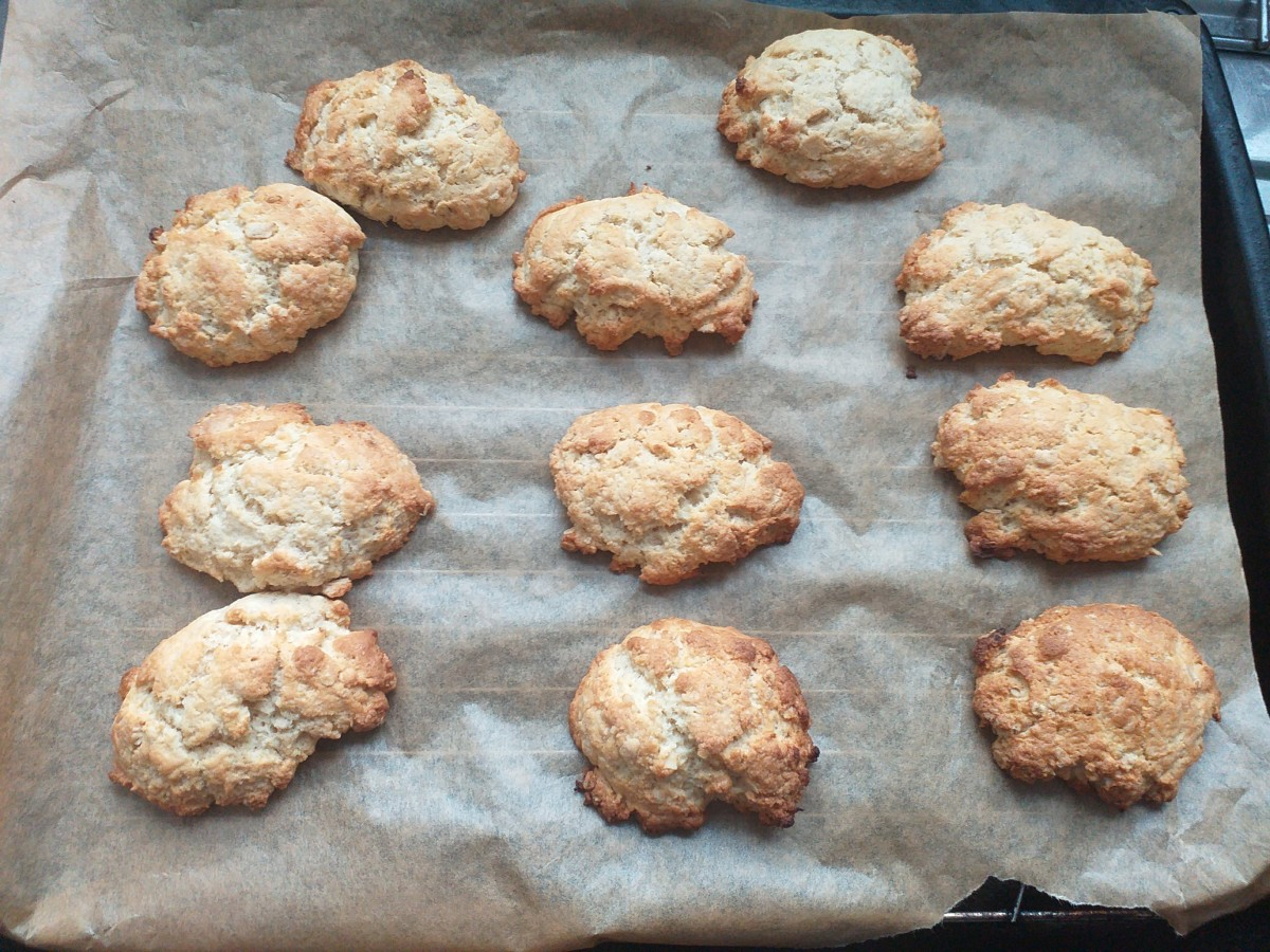 Batch of ginger cookies, fresh from the oven