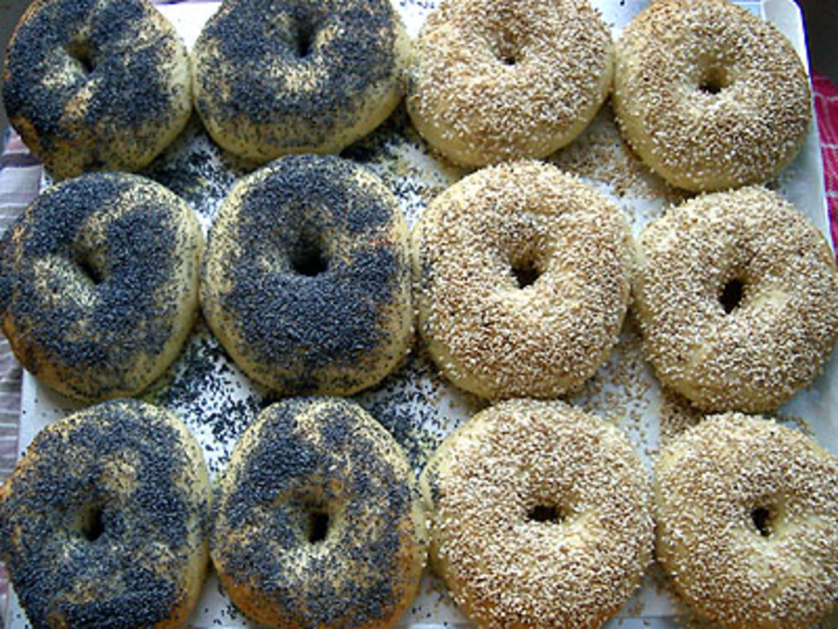 Seeded bagels. Photo credit: the freshloaf.com.