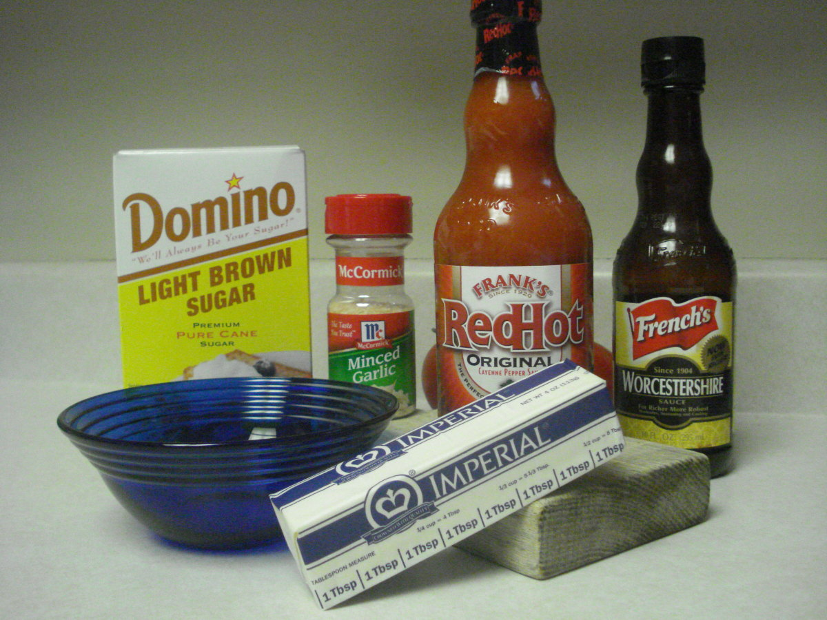 What you will need for your wing sauce