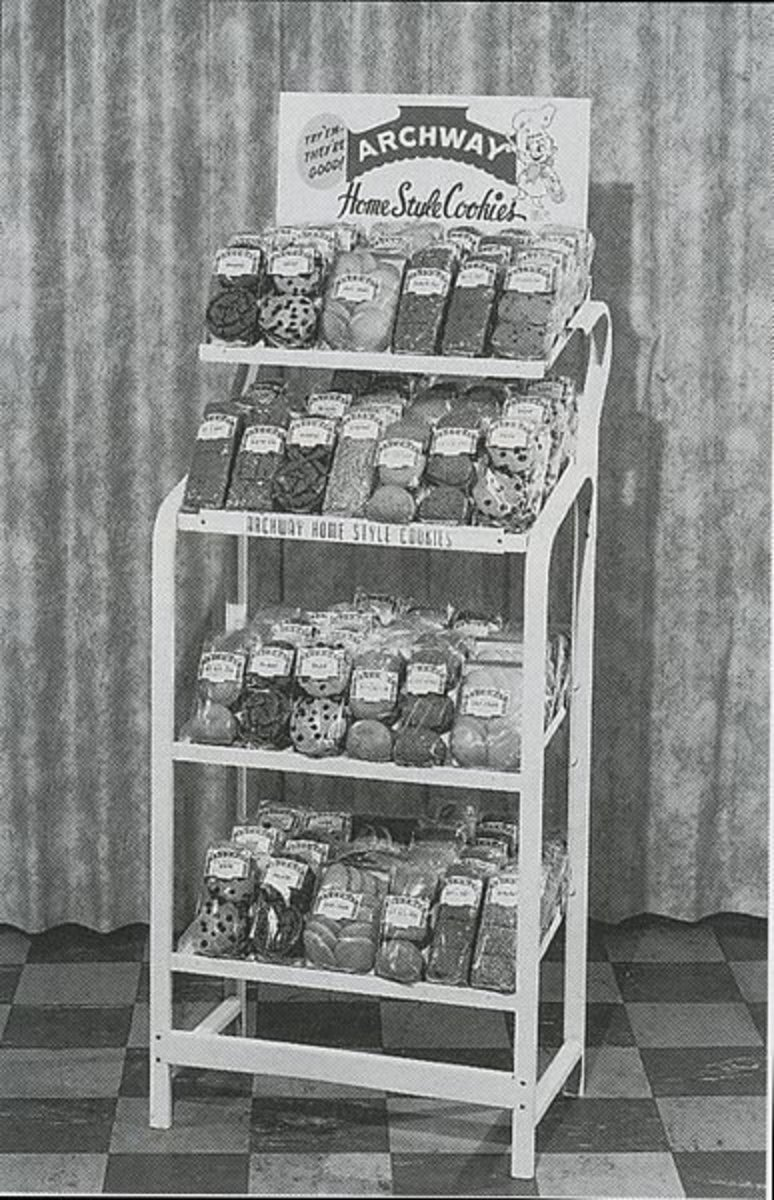 A 1950s display of Archway Cookies.