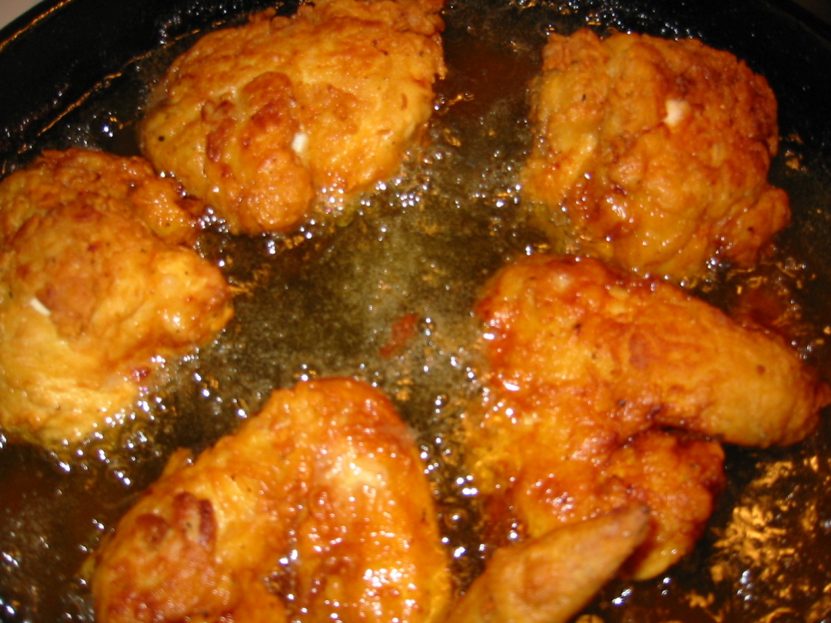 Good old southern country fried chicken. Crisp deep brown ...