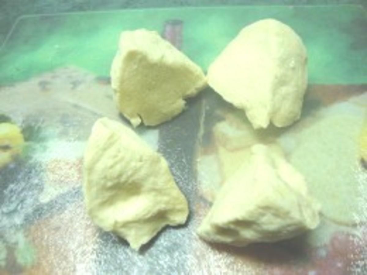 Photo: Noodle Dough Cut Into Portions