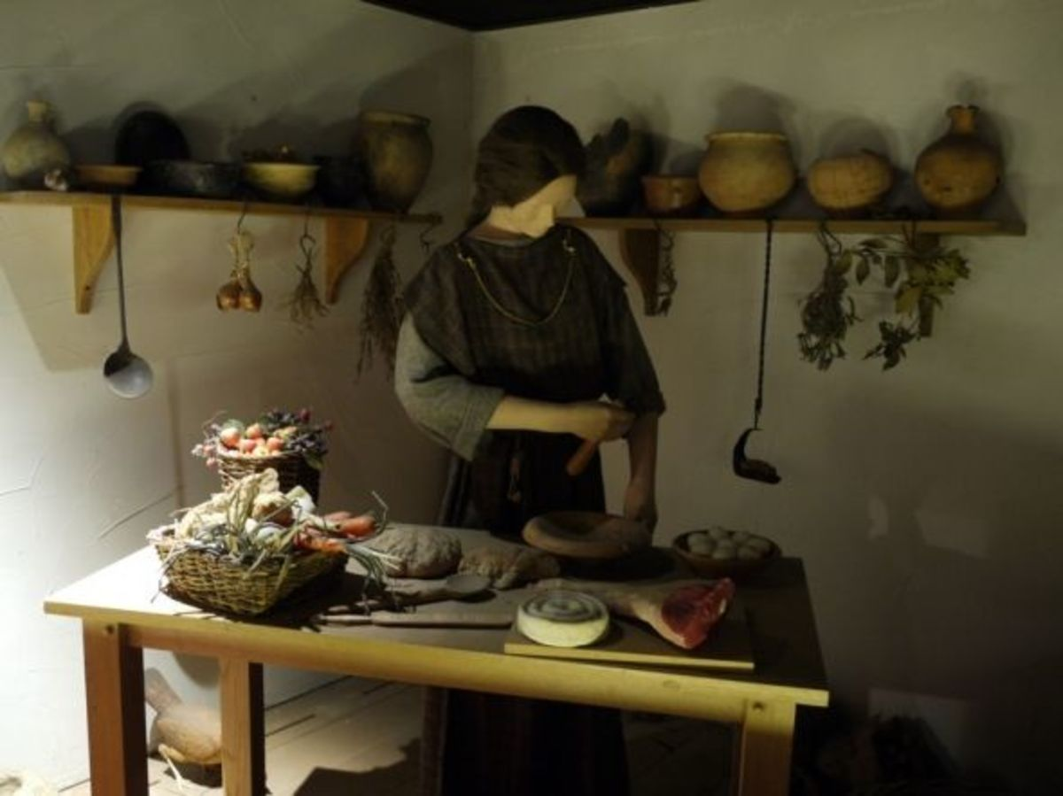 Reconstruction of a Roman kitchen