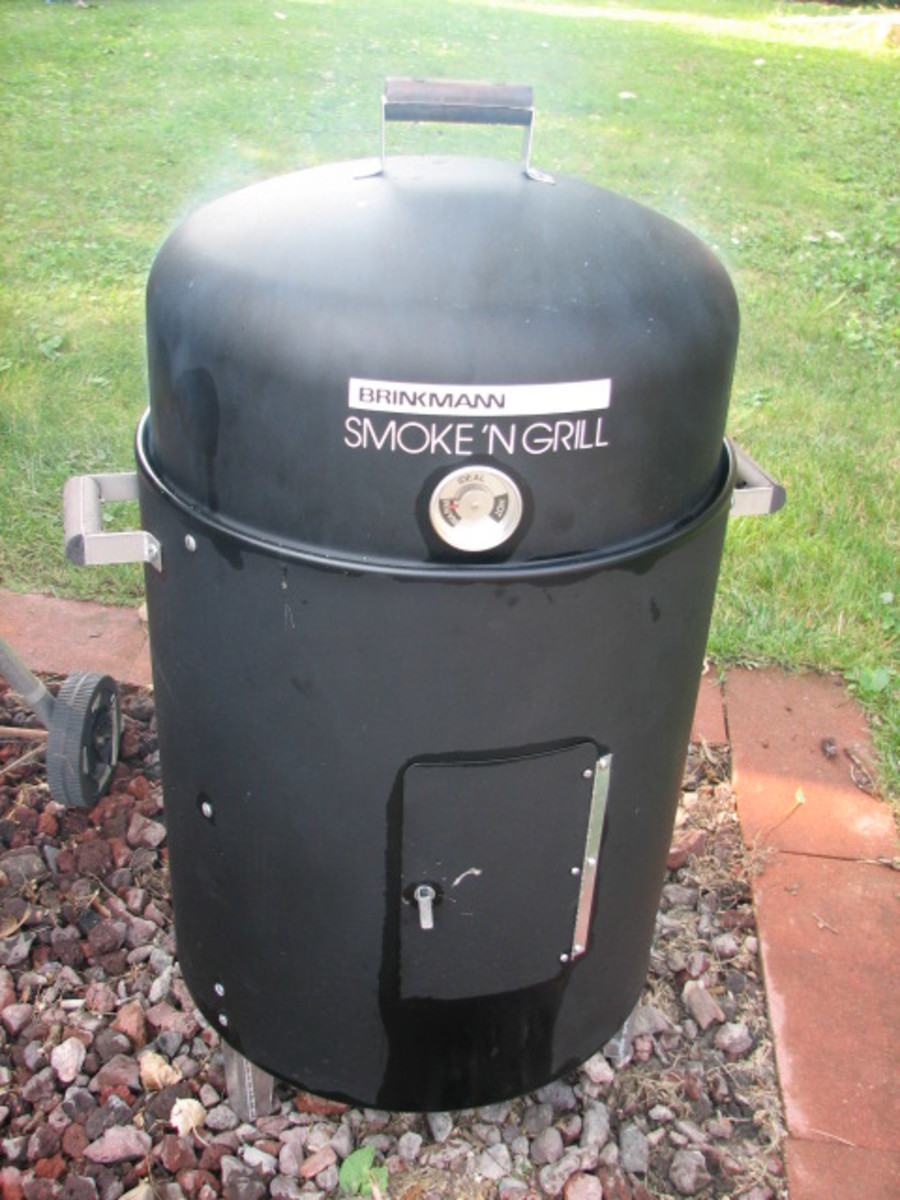 Start the smoker with charcoal and Hickory chips