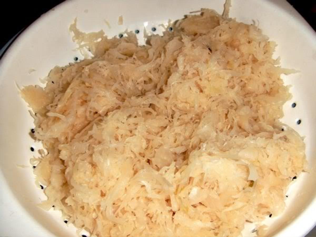 Start with canned sauerkraut, rinsed.