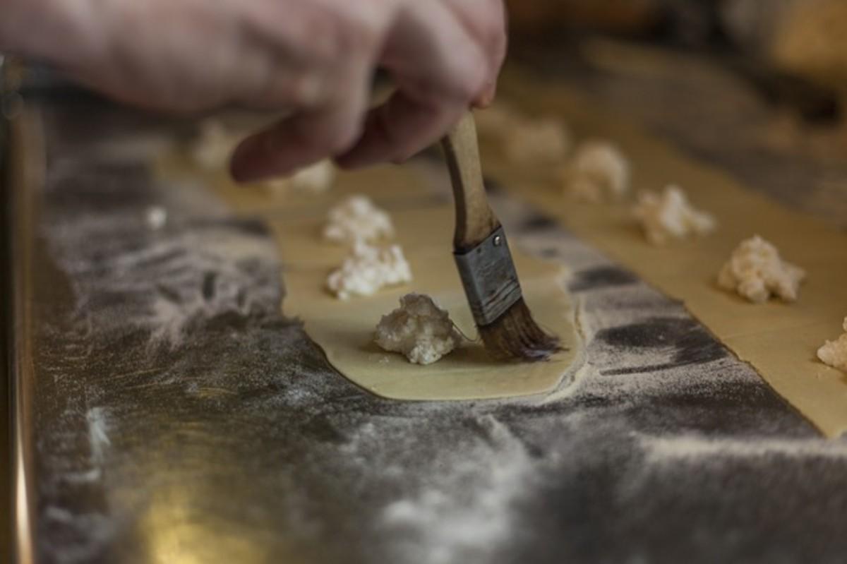 Form the ravioli.