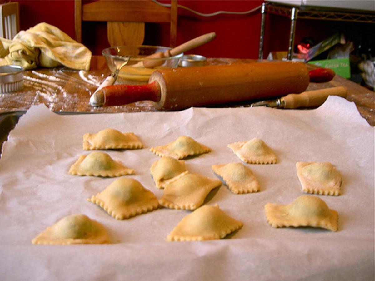 Create the ravioli.